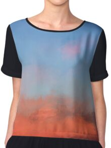 Color Abstraction XLVII - Sunset Chiffon Top