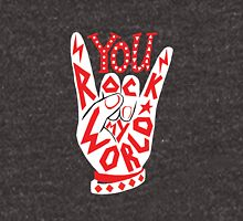 You rock my world lettering typography sign illustration in white and red. Unisex T-Shirt