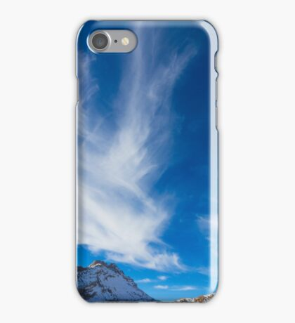 Sky, clouds and mountains. iPhone Case/Skin
