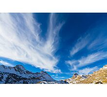 Sky, clouds and mountains. Photographic Print