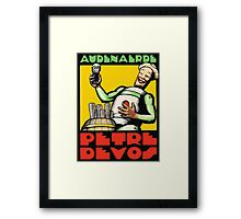 1930s Audenaerde Petre-Devos Belgian Beer advert retro style Framed Print