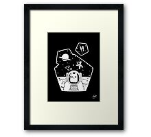 Christobelle Purrlumbus: Oblivious Explorer of Space Framed Print