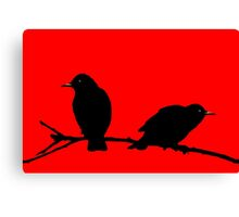 Starlings Red. Canvas Print