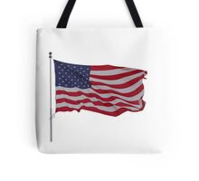 red white and blue on white Tote Bag