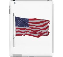 red white and blue on white iPad Case/Skin