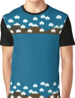 Cloudy Mountains Graphic T-Shirt