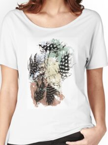 Pastel feathers. Women's Relaxed Fit T-Shirt