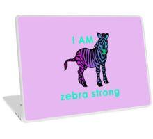 I AM zebra strong Laptop Skin