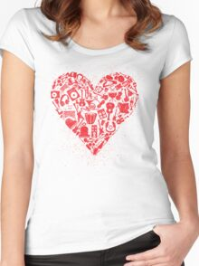 Love Music T-Shirts Women's Fitted Scoop T-Shirt