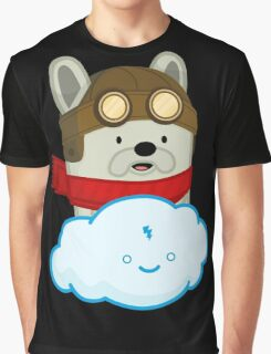 The Flying French Bulldog Graphic T-Shirt