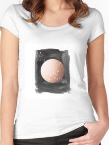 Full moon on dark night Women's Fitted Scoop T-Shirt