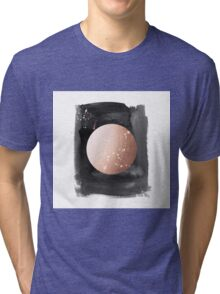 Full moon on dark night Tri-blend T-Shirt