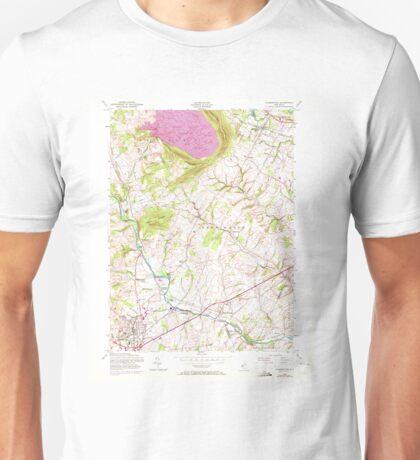 USGS TOPO Map New Jersey NJ Flemington 254386 1954 24000 Unisex T-Shirt
