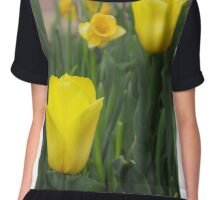 Missou College Tulips Chiffon Top