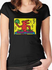 keith haring, keith, haring, graffiti, symbol, paris, trending, mann, dj, music. Women's Fitted Scoop T-Shirt