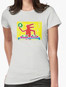 keith haring, keith, haring, graffiti, symbol, paris, trending, mann, dj, music. Womens Fitted T-Shirt