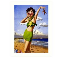 Hello there bathing beauty! (retro vintage pin up) Art Print