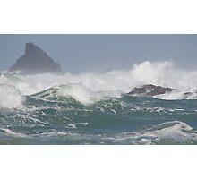Stormy Seas off Treyarnon Bay - North Cornwall Photographic Print