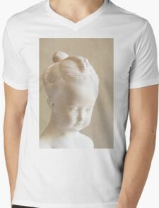 Little Girl Mens V-Neck T-Shirt
