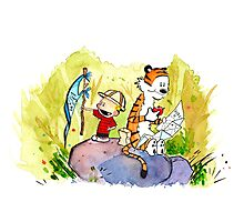 Adventure with Calvin & Hobbes Photographic Print