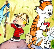 Adventure with Calvin & Hobbes Sticker