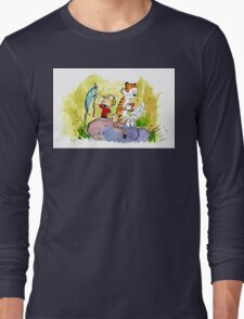 Adventure with Calvin & Hobbes Long Sleeve T-Shirt