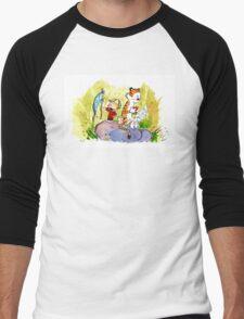 Adventure with Calvin & Hobbes Men's Baseball ¾ T-Shirt