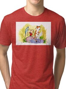 Adventure with Calvin & Hobbes Tri-blend T-Shirt