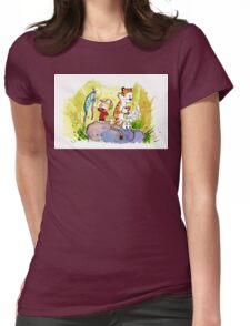 Adventure with Calvin & Hobbes Womens Fitted T-Shirt