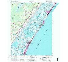 USGS TOPO Map New Jersey NJ Sea Isle City 254872 1952 24000 Photographic Print