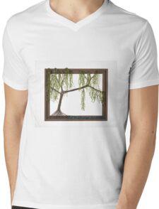 Spring Willow Tree Mens V-Neck T-Shirt