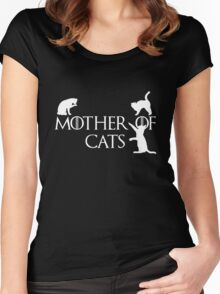 Game of thrones mother of cats Women's Fitted Scoop T-Shirt