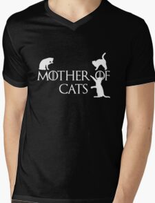 Game of thrones mother of cats Mens V-Neck T-Shirt