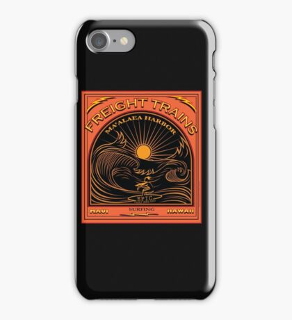SURFING FREIGHT TRAINS MAUI HAWAII iPhone Case/Skin