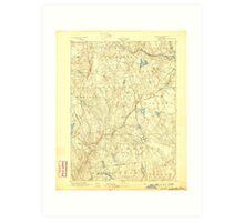 USGS TOPO Map Connecticut CT Gilead 331026 1892 62500 Art Print