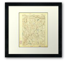 USGS TOPO Map Connecticut CT Gilead 331026 1892 62500 Framed Print