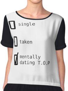 Mentally Dating TOP - BIGBANG Women's Chiffon Top