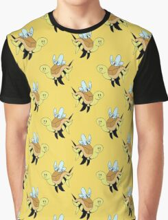 Bumble Bee Turtle Pattern Graphic T-Shirt