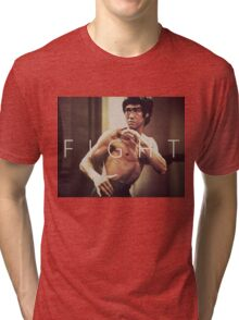 Bruce Lee Fight Tri-blend T-Shirt