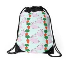 Bunny Carrot Pattern Drawstring Bag