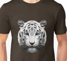Tiger wild low poly white animal nature Unisex T-Shirt