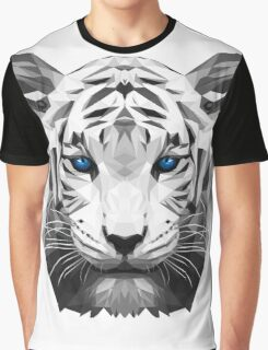 Tiger wild low poly white animal nature Graphic T-Shirt