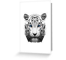 Tiger wild low poly white animal nature Greeting Card