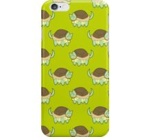 Cat Turtle Lime Green Pattern iPhone Case/Skin