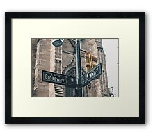 Broadway and Wall Street Framed Print