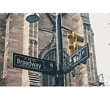 Broadway and Wall Street Photographic Print