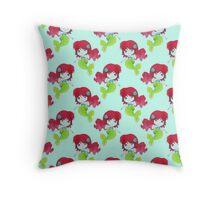 Little Watercolor Mermaid Pattern Throw Pillow