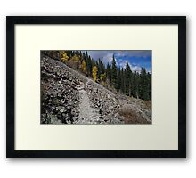 On the Way to Wheeler Peak - Red River - New Mexico Framed Print