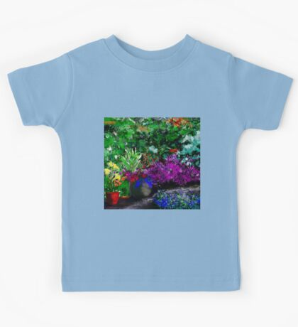 Garden in Summer Art Kids Tee