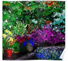 Garden in Summer Art Poster
